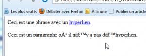 rendu dans Firefox