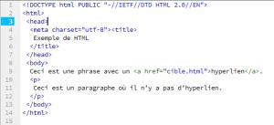 code HTML corrigé